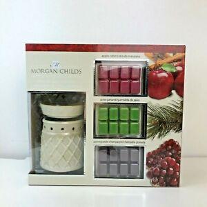 Morgan Childs Electric Wax Warmer W/Apple Cider,Pine Garland,Pomegranate Champag