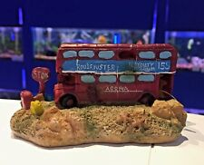 GB London Bus & Stop Sign Aquarium Ornament Goldfish Bowl Fish Tank Decor 797
