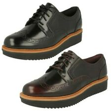 Ladies Clarks Casual Brogue Style Shoes Teadale Maira