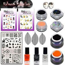 Halloween Nailart Box Farbgel Glitzer Stampinglack Glitter Skull Sticker