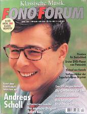 Fono Forum 4/97 Bryston 60 BRI, Panasonic DVD-A 100, Andreas Scholl, Robert King