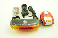 BIKE INDICATOR LIGHTS,REAR BRAKE LIGHT & MULTI SOUND SIREN SEAT MOUNT IDEAL GIFT