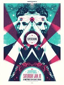 Superchunk Gig Poster, Chicago 2014 (Original Silkscreen) 18 x 24' Print