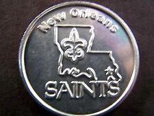 2010 King Arthur NEW ORLEANS SAINTS Plain Aluminum Mardi Gras Doubloon