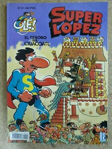 Superlopez num.21 El Tesoro de Ciuacoatl.Relieve.1ª edicion Ediciones B