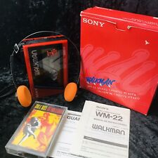 Sony Walkman WM-22 Boxed Good Example With Sony MDR-02 Headphones !