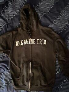 Authentic ALKALINE TRIO Classic Heartskull Zip Up Hoodie Medium M
