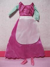 Barbie Doll Princess Aurora Sleeping Beauty Pink Kitchen Dress Shoes Outfit Lot