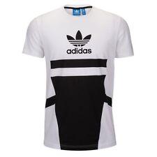 Adidas Originals Logo White Black T-shirt Men's Sz XL Extra Large Graphic Tee
