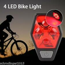 Schrödinger10006  RAYPAL 4 LED Bicycle Cycling Cycle Rear Tail light Red Bright