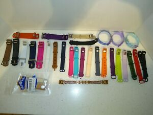 LOT OF 27 FITBIT BANDS ~ SOME NEW IN PACKAGING + 3 OTHER PLASTIC BANDS