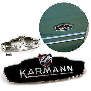 VW KARMANN GHIA-BAT EAR STYLE SIDE BADGE, NEW, 1956 -1959, ALL GHIAS, LOWLIGHT