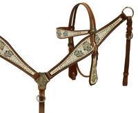 Showman Sugar skull print headstall and breast collar set! NEW HORSE TACK!