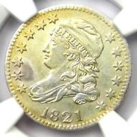 1821 Capped Bust Dime 10C JR-7 - Certified NGC AU Details - Rare Date!