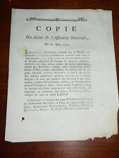 295-REVOLUTION 1791 fuite de Varennes: Ordre d'arrêter toute personne sortant du