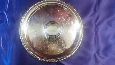 VINTAGE 10 INCH SILVER PLATED SERVING TRAY WM. ROGERS With Eagle and Star