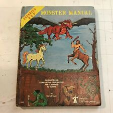 1979 Advanced D&D Monster Manual 4th Ed 1st gary gygax dungeons and dragons AD&D