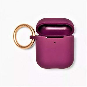 heyday Airpod Silicone Case with Clip Purple