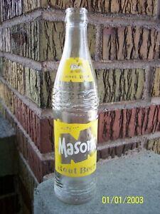 MASONS ROOT BEER BOTTLE 10oz 1967 TOLEDO OHIO SODA BOTTLE POP BOTTLE ACL BOTTLE