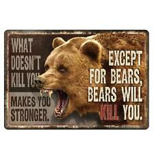 Rivers Edge Products Bears Will Kill You Sign 1457