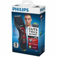 Philips Mens Hair Clipper Cordless Series 3000 13 Lengths 0.5-23mm, Steel Blades