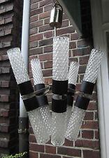 années 70 design Lustre Lampe suspendue cristal de plomb pour 10