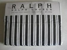 RALPH LAUREN BLACK AND WHITE STRIPE FULL SZ FLAT SHEET LOFT COLLECTION NIP