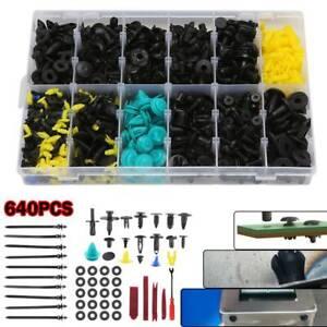 640 Car Body Trim Clips Retainer Bumper Rivets Screw Panel Push Fastener Kits UK