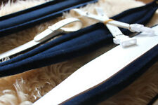 (SET) Stylish White & Navy Blue Deluxe Accordion Straps + Matching Bass Strap