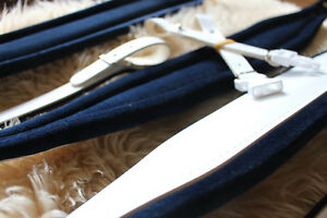 Accordion Straps + Matching Bass Strap (SET) Stylish White & Navy Blue Deluxe