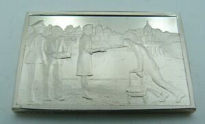 925 Solid Silver Ingot - 'The Knighting of Sir Francis Chichester' Greenwich 67