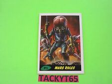 MARS ATTACKS OCCUPATION KICKSTARTER SINGLE PROMO CARD P1 GREEN  MARS RULES