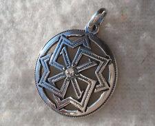 Solid Sterling Silver 925 Molviniec Pendant Amulet VIKING with Swarovski Ethnic