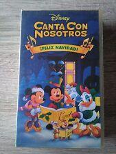 CANTA CON NOSOTROS ¡FELIZ NAVIDAD! VHS DISNEY