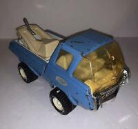 Tonka Tow Truck Wrecker Vintage Blue Pressed Steel Metal Vintage 1970s Rare
