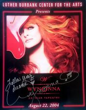 Wynonna Judd signed rare 2004 CONCERT TOUR poster / autograph 20 Year Tapestry