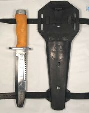 New listing Vintage USED US Diver Aqua Lung Stainless Steel Diving Knife w/ Sheath