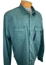 New Lucky Brand Shirt XXL Classic Fit Saturday Stretch Pearl Snap NWT $59.50