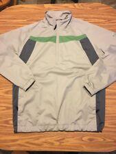 Mens Nike Golf Storm Fit 1/2 Zip Pullover Jacket Sz XL Gray Green