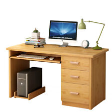 A59S Computer Desk Office Workstation Laptop PC Table with 3 Drawer Cabinet