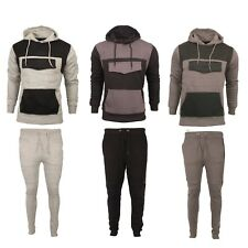 Mens Tracksuit Top Bottom Pants Fleece Designer Slim Fit Hooded Hoodie S M L XL