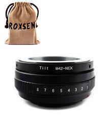 Tilt Zeiss M42 screw mount lens to Sony E Mount Adapter NEX-5 3 7 6 C3 5N VG10E