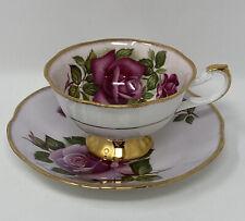 Vintage Bone China ROSINA England Teacup & Saucer PINK ENGLISH ROSES