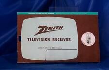 1962 Zenith Television Receiver Operating Manual and schematic