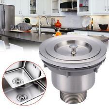 Silver Kitchen Waste Stainless Steel Basket Stopper Shower Sink Drain Strainer