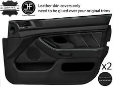 White Stitch 2X Front Full porte carte en cuir couvre Fits BMW 5 Series E39 95-03
