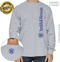 SMITH & WESSON FIREARMS T-SHIRT - T-SHIRT GIFT UNISEX LONG SLEEVE