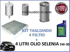 KIT TAGLIANDO 4 FILTRI + OLIO SELENIA 5W30 FIAT BRAVO II 1.6 MULTIJET DIESEL