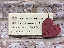 Christmas gift for Dad / Daddy / Grandad Personalised wooden plaque