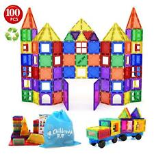 Educational 3D Magnet Building Blocks 100pc Magnetic Tiles Builders Toy For Kids